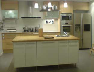 Single Line Kitchen with Island
