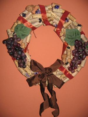 My Wine Cork Wreath